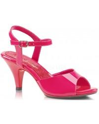 Hot Pink Belle 3 Inch Heel Sandal