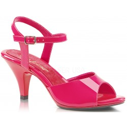 Hot Pink Belle 3 Inch Heel Sandal Mild to Wild Womens Shoes  Shoes for Women from Flats to Extreme High Heels & Platforms