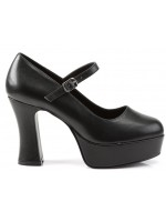 Black Mary Jane Square Heeled Pump at Mild to Wild Womens Shoes,  Shoes for Women from Flats to Extreme High Heels & Platforms