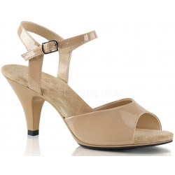 Nude Belle 3 Inch Heel Sandal Mild to Wild Womens Shoes  Shoes for Women from Flats to Extreme High Heels & Platforms