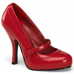Cutie Pie Red Mary Jane Pin Up Pumps Mild to Wild Womens Shoes  Shoes for Women from Flats to Extreme High Heels & Platforms