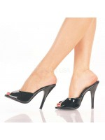 Black Patent High Heel Peep Toe Slide at Mild to Wild Womens Shoes,  Shoes for Women from Flats to Extreme High Heels & Platforms