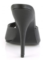 Black Matte High Heel Peep Toe Slide at Mild to Wild Womens Shoes,  Shoes for Women from Flats to Extreme High Heels & Platforms