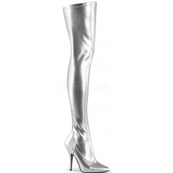 Seduce Silver High Heel Thigh High Boots Mild to Wild Womens Shoes  Shoes for Women from Flats to Extreme High Heels & Platforms