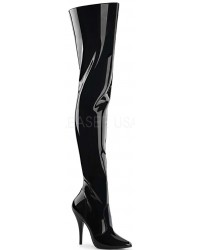 Pretty Woman Seduce Black Patent Thigh High Boots