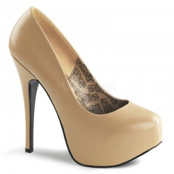 Teeze Tan Matte Platform Pump Mild to Wild Shoes  Shoes for Women from Flats to Extreme High Heels & Platforms