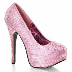 Teeze Baby Pink Rhinestone Platform Pump Mild to Wild Womens Shoes  Shoes for Women from Flats to Extreme High Heels & Platforms