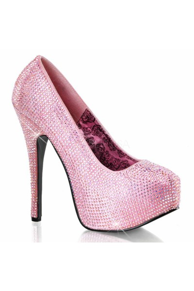 Teeze Baby Pink Rhinestone Platform Pump at Mild to Wild Womens Shoes,  Shoes for Women from Flats to Extreme High Heels & Platforms
