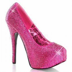 Teeze Hot Pink Rhinestone Platform Pump Mild to Wild Womens Shoes  Shoes for Women from Flats to Extreme High Heels & Platforms