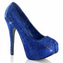 Teeze Royal Blue Rhinestone Platform Pump Mild to Wild Shoes  Shoes for Women from Flats to Extreme High Heels & Platforms