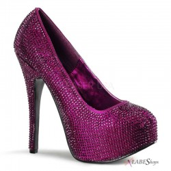 Teeze Purple Rhinestone Platform Pump Mild to Wild Shoes  Shoes for Women from Flats to Extreme High Heels & Platforms