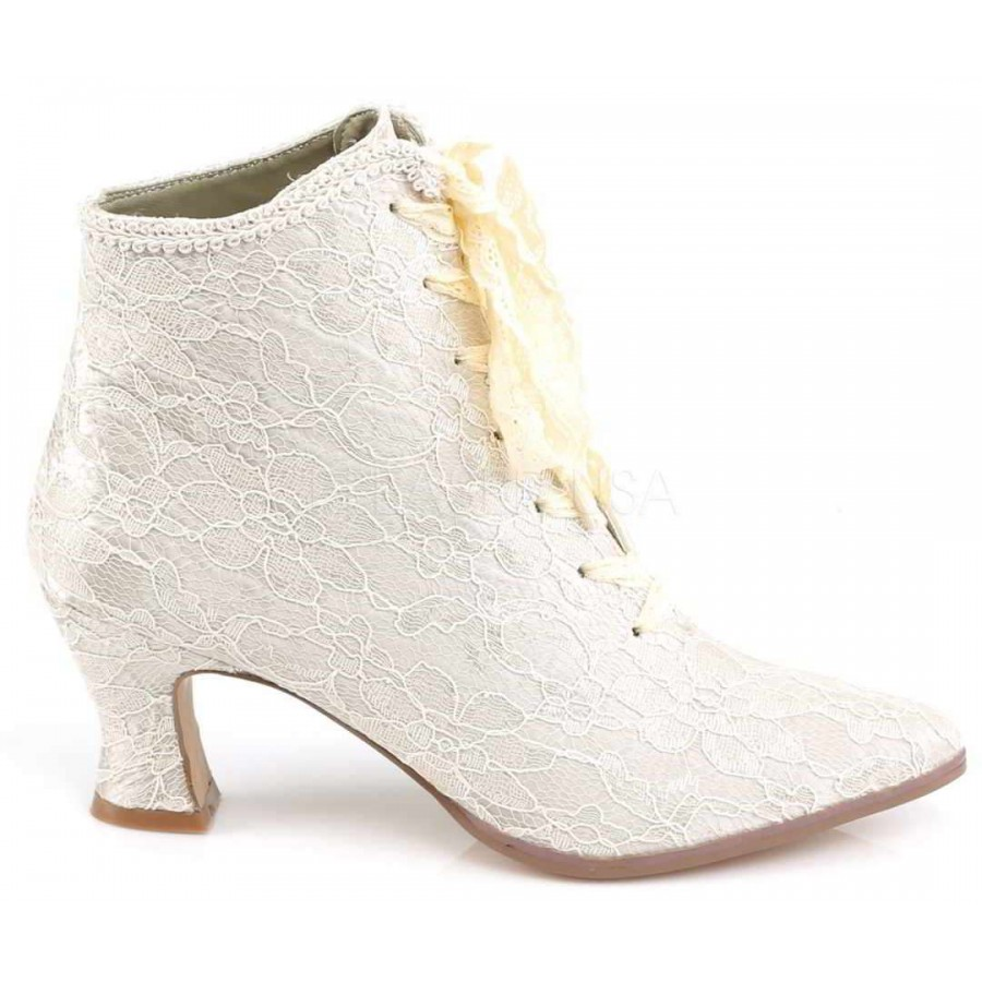 Victorian Jane Champagne Lace Ankle Boot At Mild To Wild Shoes For Women From