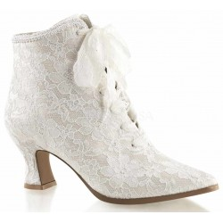 Victorian Jane Ivory Lace Ankle Boot Mild to Wild Womens Shoes  Shoes for Women from Flats to Extreme High Heels & Platforms