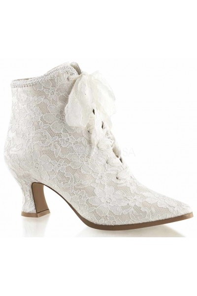 Victorian Jane Ivory Lace Ankle Boot at Mild to Wild Womens Shoes,  Shoes for Women from Flats to Extreme High Heels & Platforms