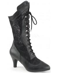 Divine Wide Width Black Victorian Platform Boot