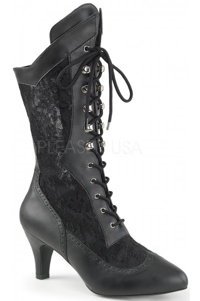 Divine Wide Width Black Victorian Platform Boot at Mild to Wild Womens Shoes,  Shoes for Women from Flats to Extreme High Heels & Platforms