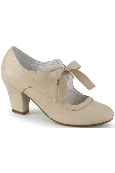 Wiggle Vintage Style Mary Jane Shoe in Beige at Mild to Wild Womens Shoes,  Shoes for Women from Flats to Extreme High Heels & Platforms