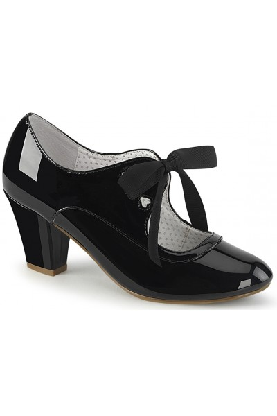 Wiggle Vintage Style Mary Jane Shoe in Black Patent at Mild to Wild Womens Shoes,  Shoes for Women from Flats to Extreme High Heels & Platforms