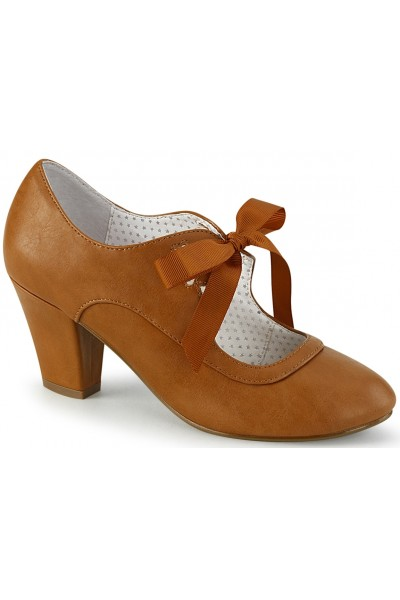 Wiggle Vintage Style Mary Jane Shoe in Caramel at Mild to Wild Womens Shoes,  Shoes for Women from Flats to Extreme High Heels & Platforms