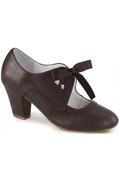 Wiggle Vintage Style Mary Jane Shoe in Dark Brown at Mild to Wild Womens Shoes,  Shoes for Women from Flats to Extreme High Heels & Platforms
