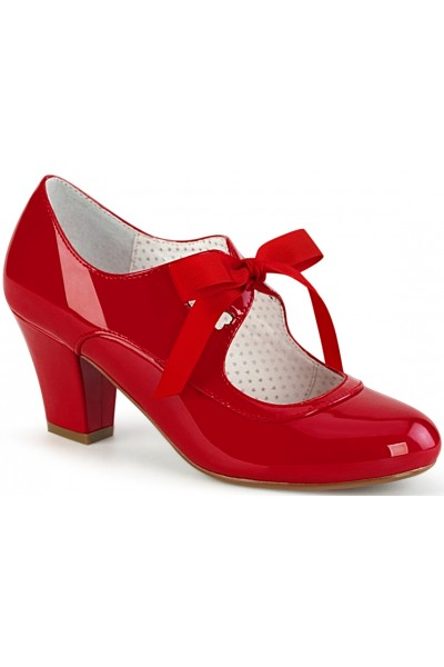 Wiggle Vintage Style Mary Jane Shoe in Red Patent at Mild to Wild Womens Shoes,  Shoes for Women from Flats to Extreme High Heels & Platforms